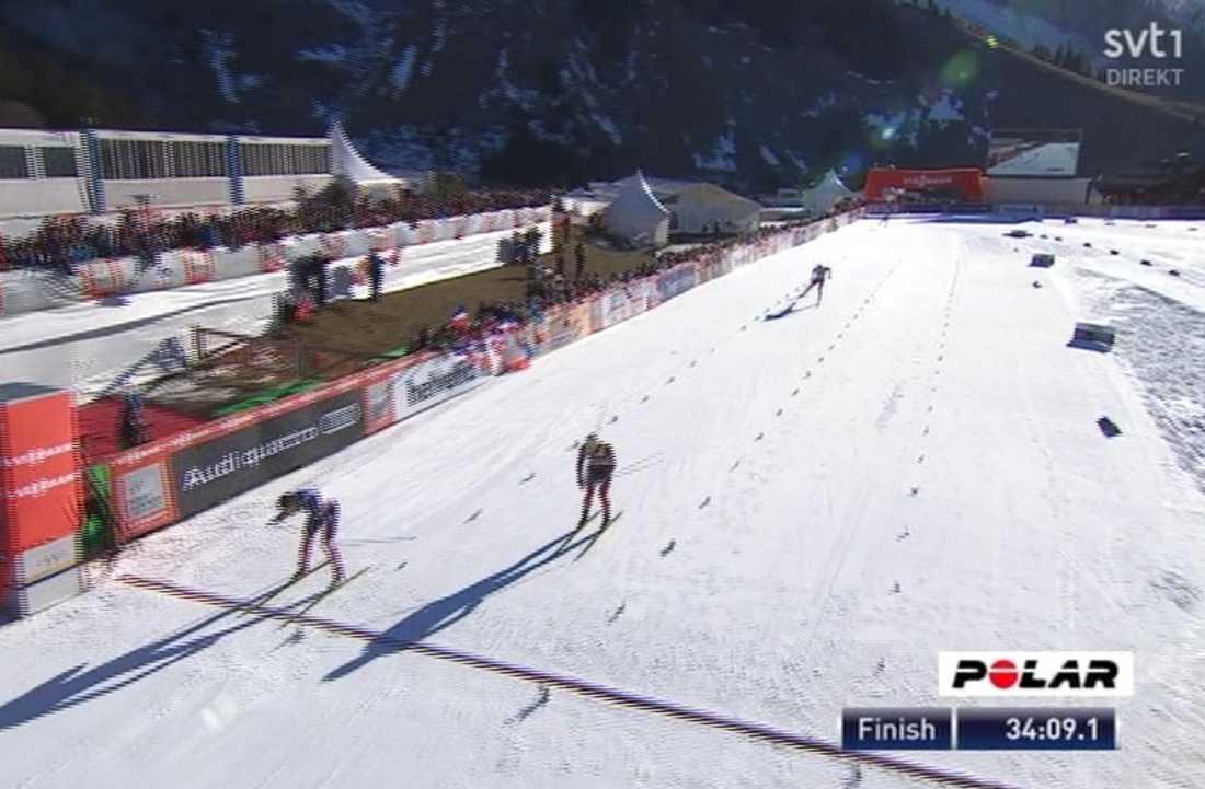 Finn Hågen Krogh vann före Martin Johnsrud Sundby och Alexander Legkov.
