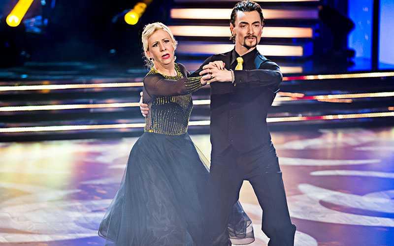 Pia Johansson och dansaren Marc Christensen.