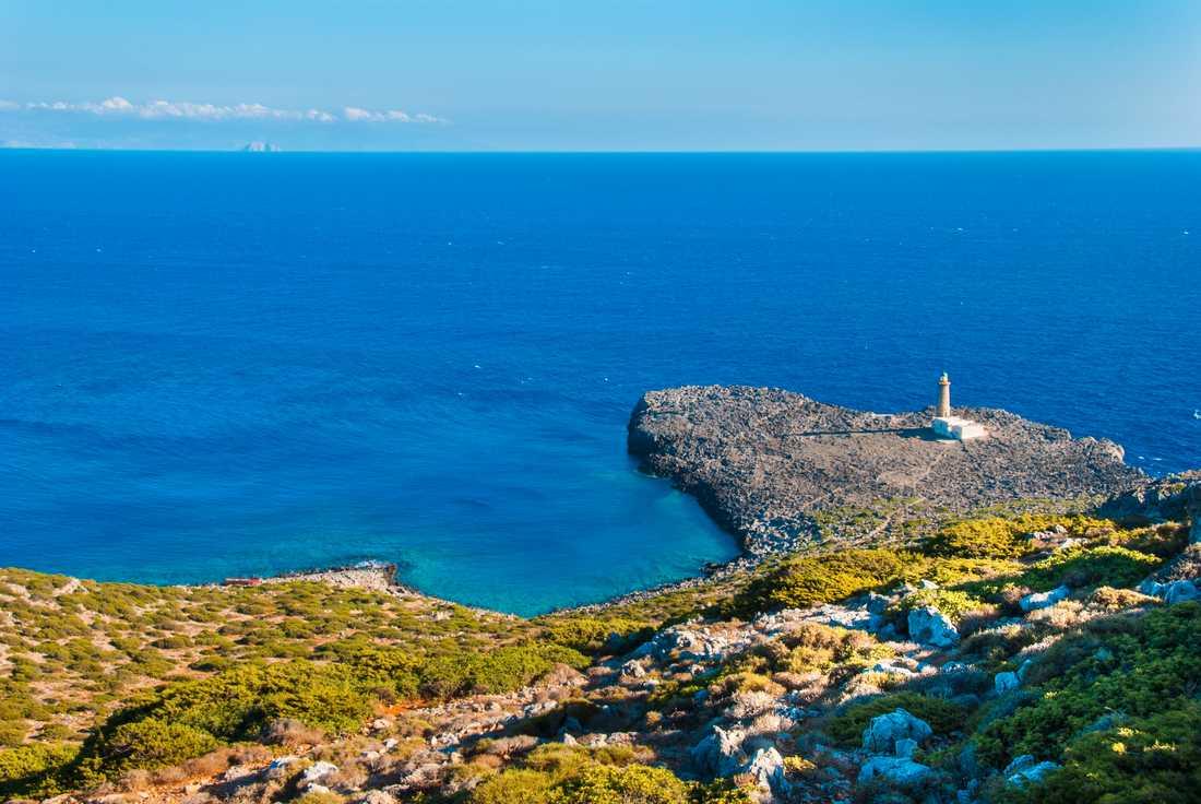 Ön Antikythera i Grekland erbjuder lugn och skönhet.