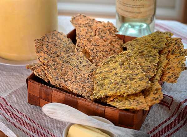 Knäckebröd med ljuvliga kryddor.