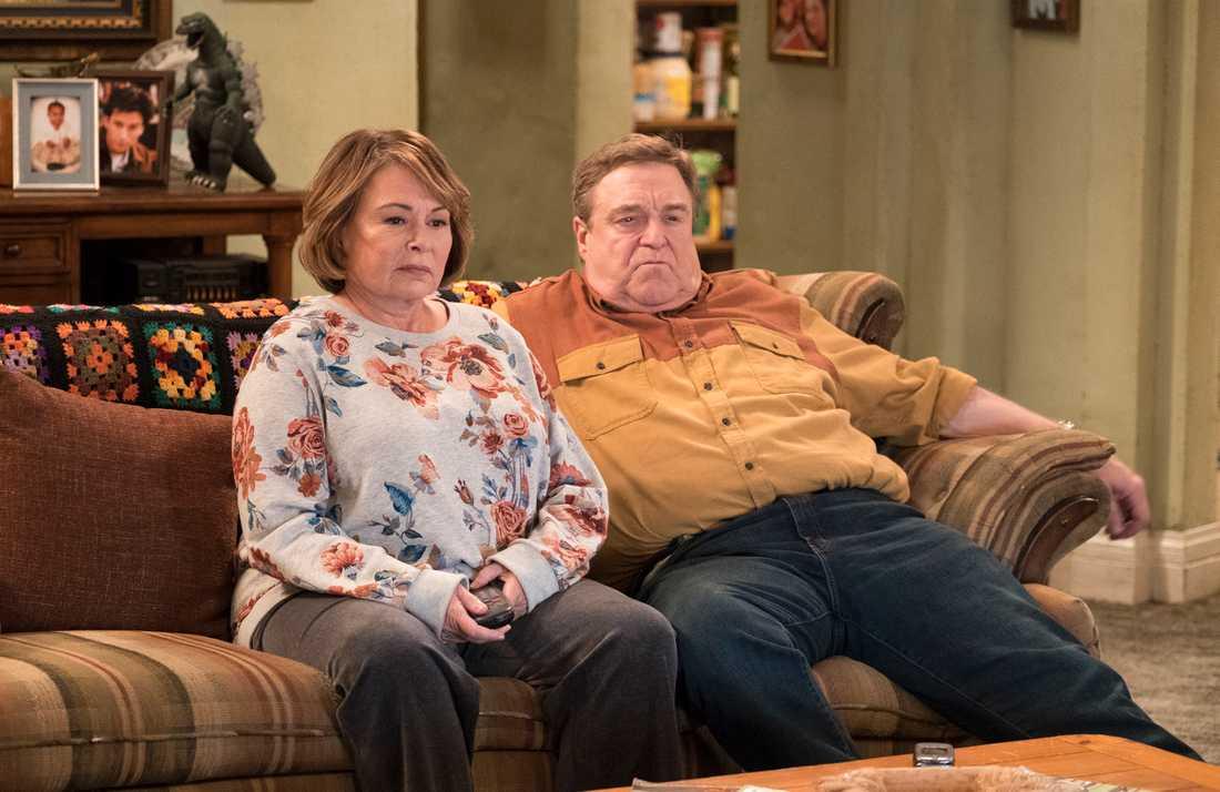 Roseanne Barr och John Goodman.