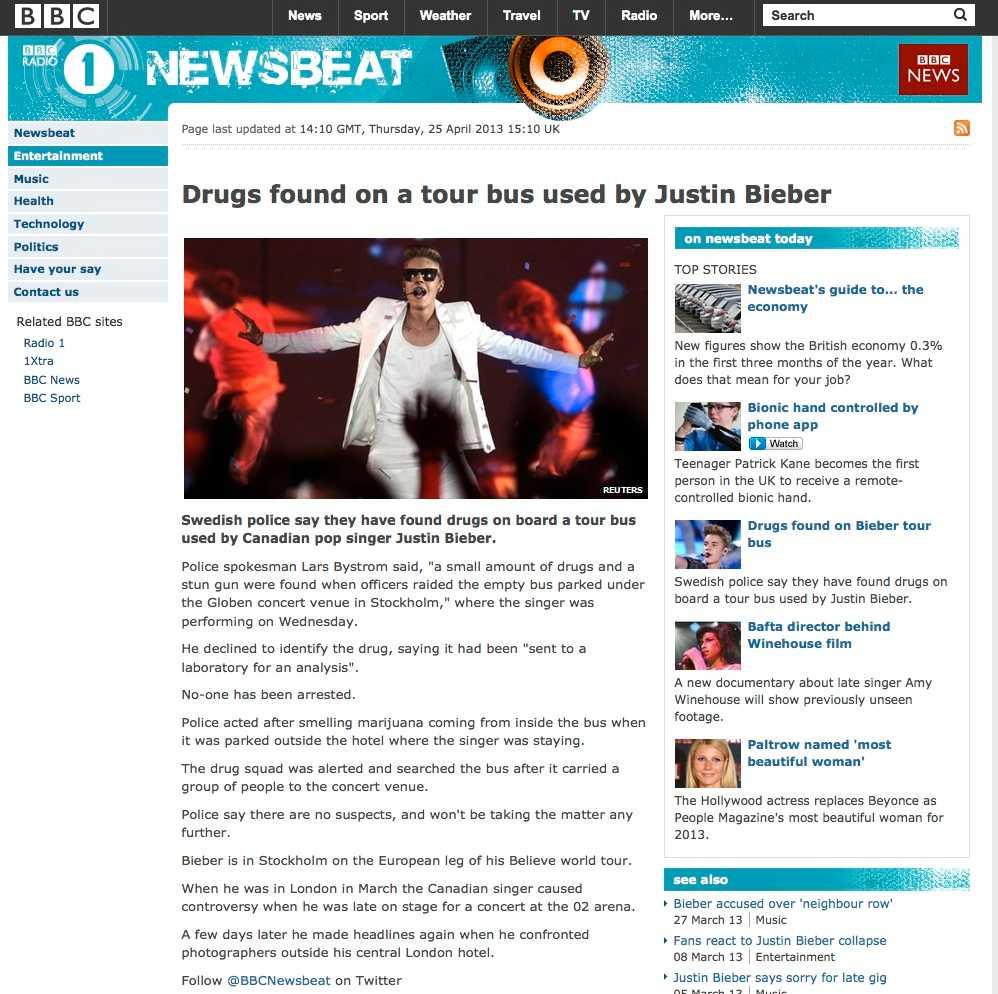 BBC hakade på.