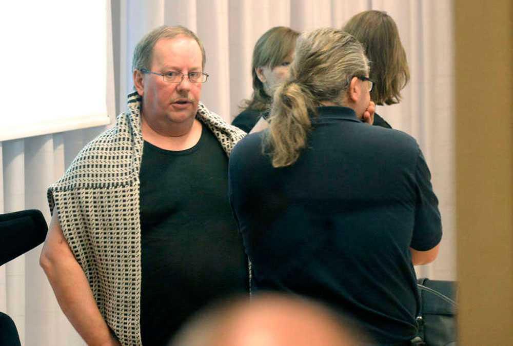 Anders Eklund under rättegången efter att ha blivit misshandlat på anstalten i juni 2014.