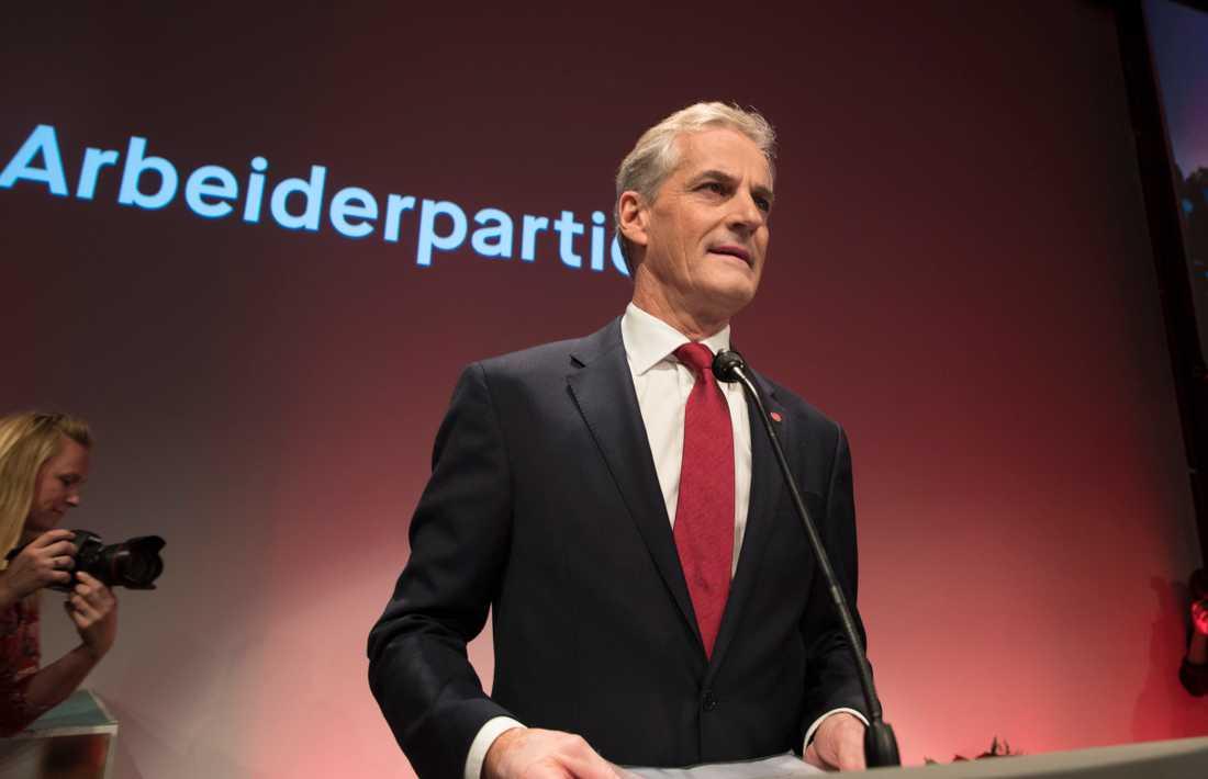 Norska Arbeiderpartiets partiledare Jonas Gahr Støre
