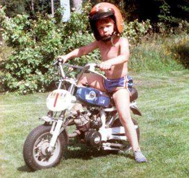 Motorintresset hade Per redan som barn.