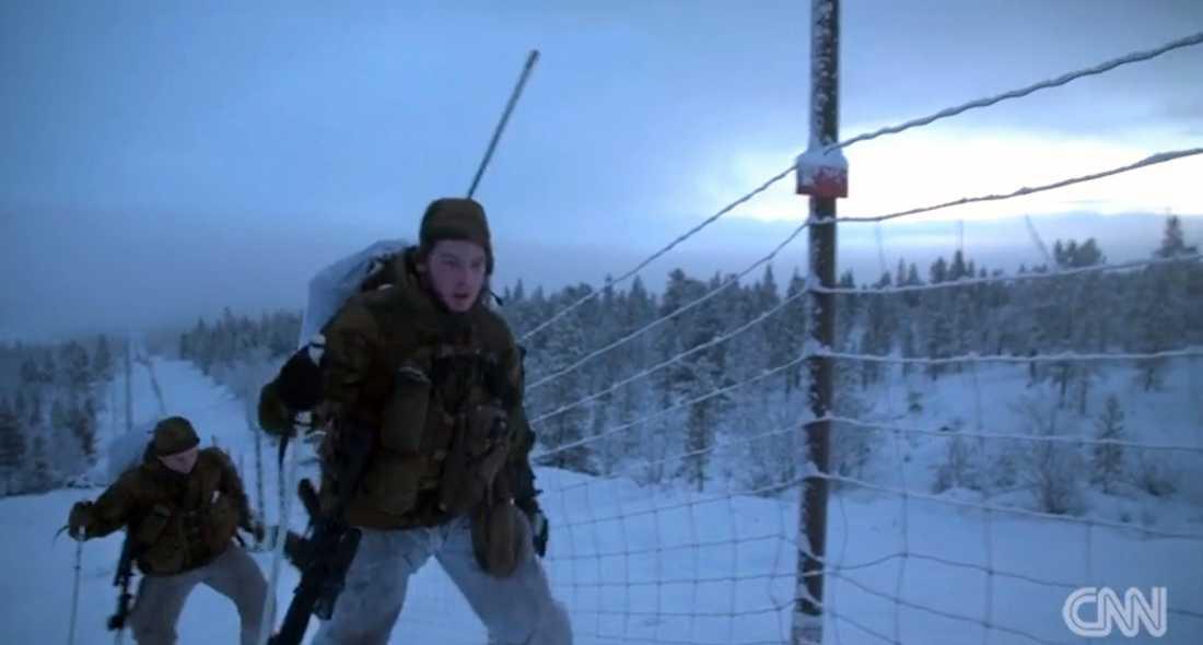 Patrullering vid ryska gränsen.
