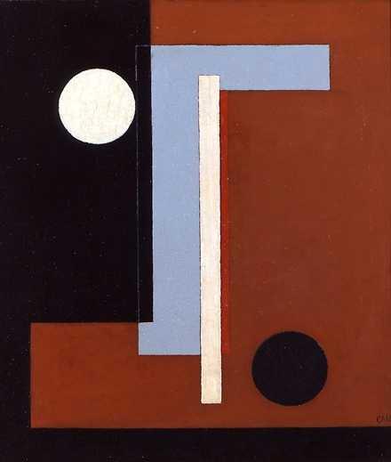 """Plangeometri"", 1930. Olja på duk."