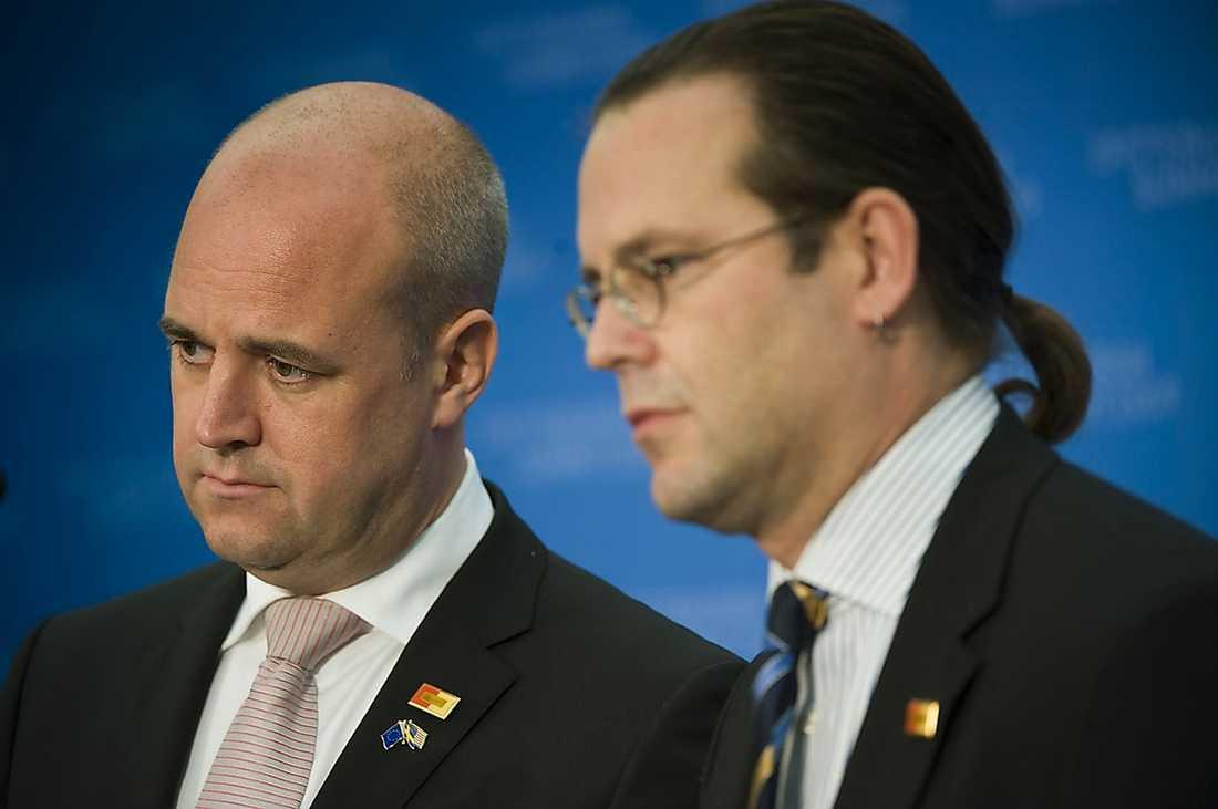 FEM ÅRS JOBB Statsminister Reinfeldt och Borg (M).