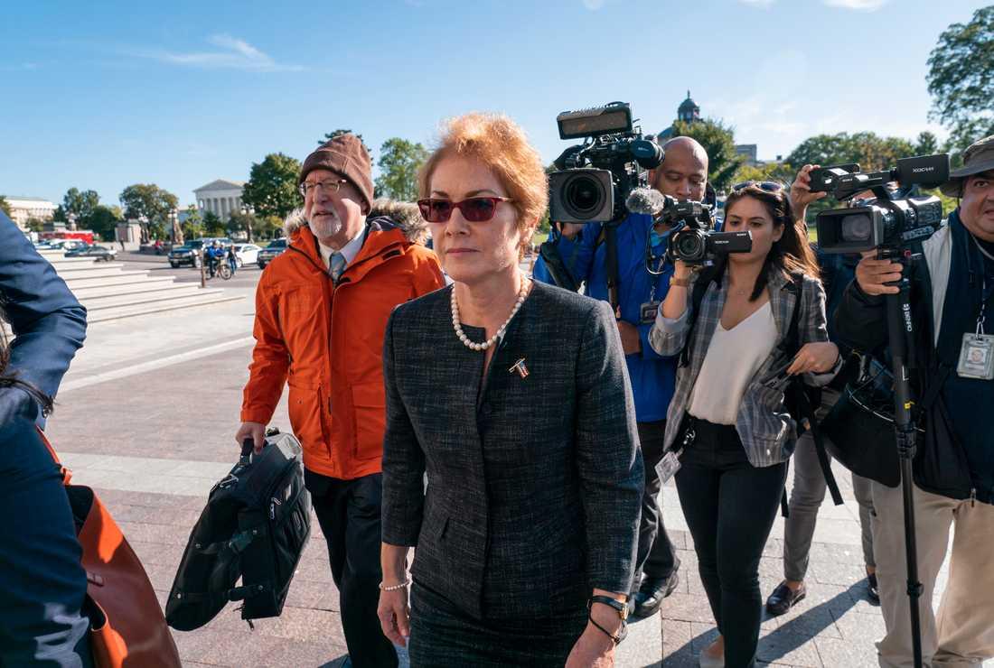 USA:s tidigare ambassadör i Ukraina Marie Yovanovitch i samband med att hon den 11 oktober vittnar inför det amerikanska representanthuset underrättelseutskott.