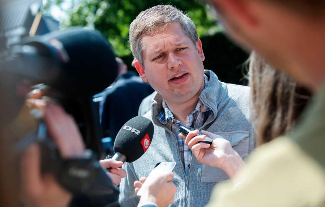 Danske politikern Rasmus Paludan, ledare för det högerextrema partiet Stram Kurs.