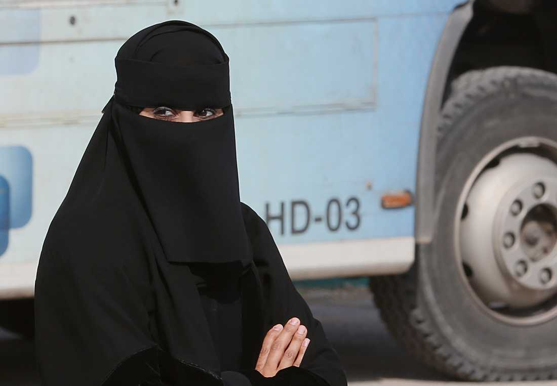 En kvinna på en gata i Saudiarabiens huvudstad Riyadh. Arkivbild.