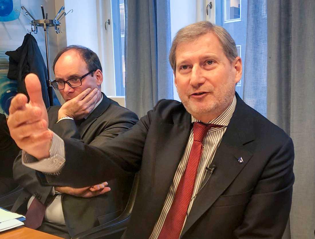 EU:s budgetkommissionär Johannes Hahn.