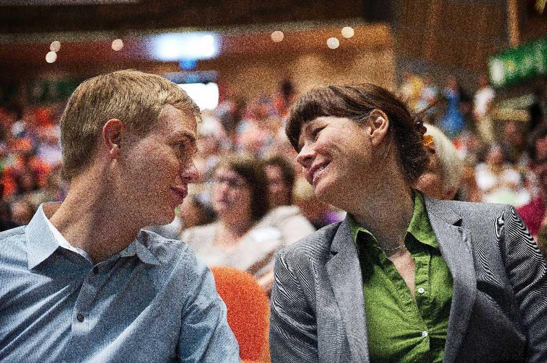 Gustav Fridolin och Åsa Romson, språkrör i Miljöpartiet.
