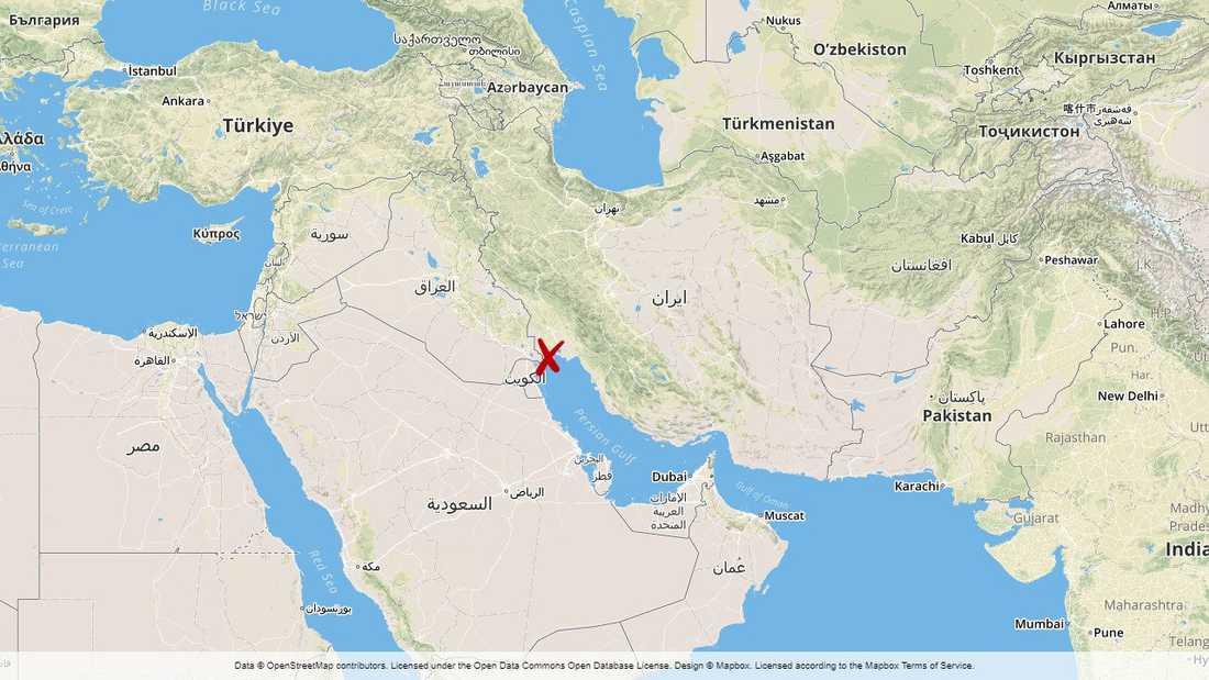 Drönaren ska ha skjutits ned över hamnstaden Mahshahr i sydvästra Iran.