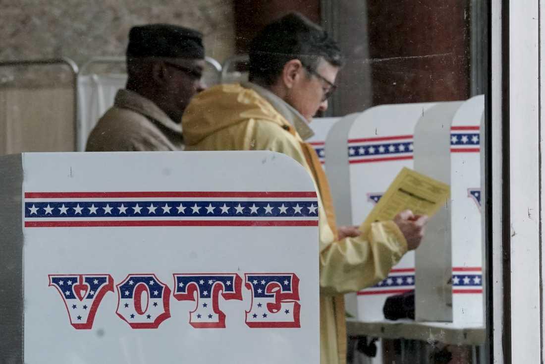 Förtidsröstning i Milwaukee i USA-delstaten Wisconsin. Primärvalet var planerat till den 7 april.
