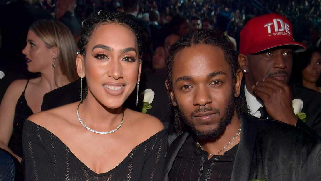Kendrick Lamar med flickvännen Whitney Alford.
