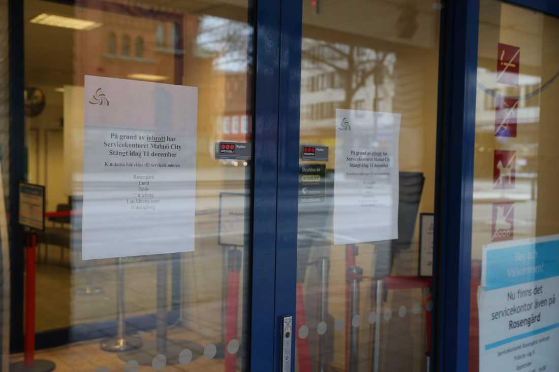 Skatteverkets lokaler i Malmö utsattes den 10 december för inbrott.