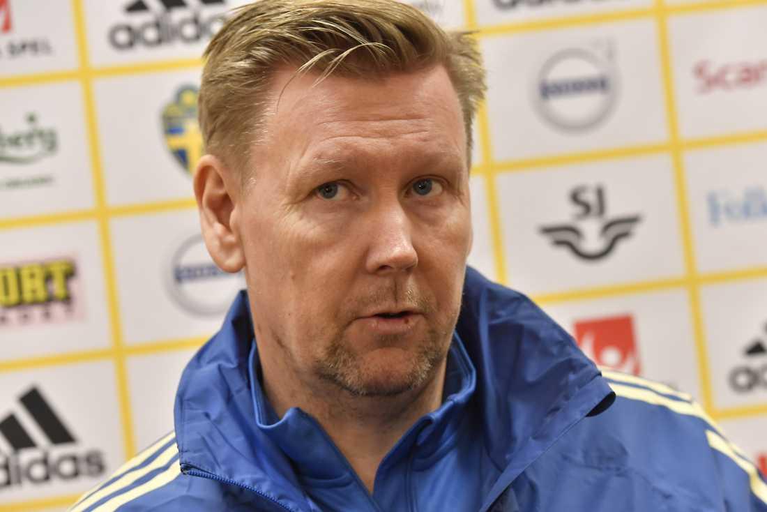 Peter Wettergren, Sveriges assisterande förbundskapten. Arkivbild.