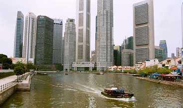 Affärsdistriktet i Singapore.