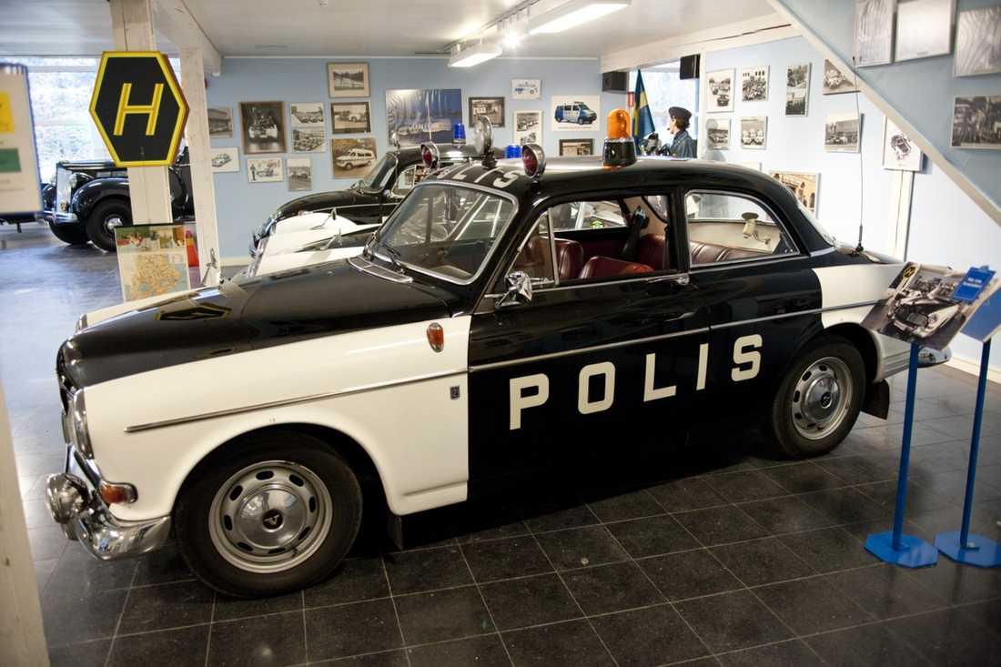 Polisamazonen var en av de sista polisbilarna som inte hade blåljus på taket.