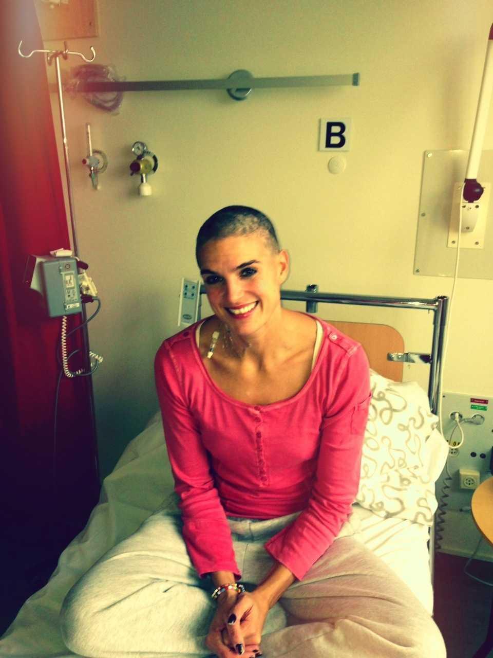 Nadja Casadei på sjukhuset.