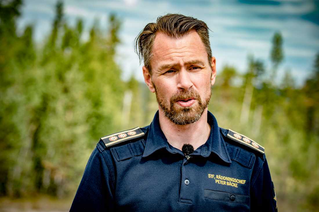 Peter Bäcke, ställföreträdande räddningsledare.