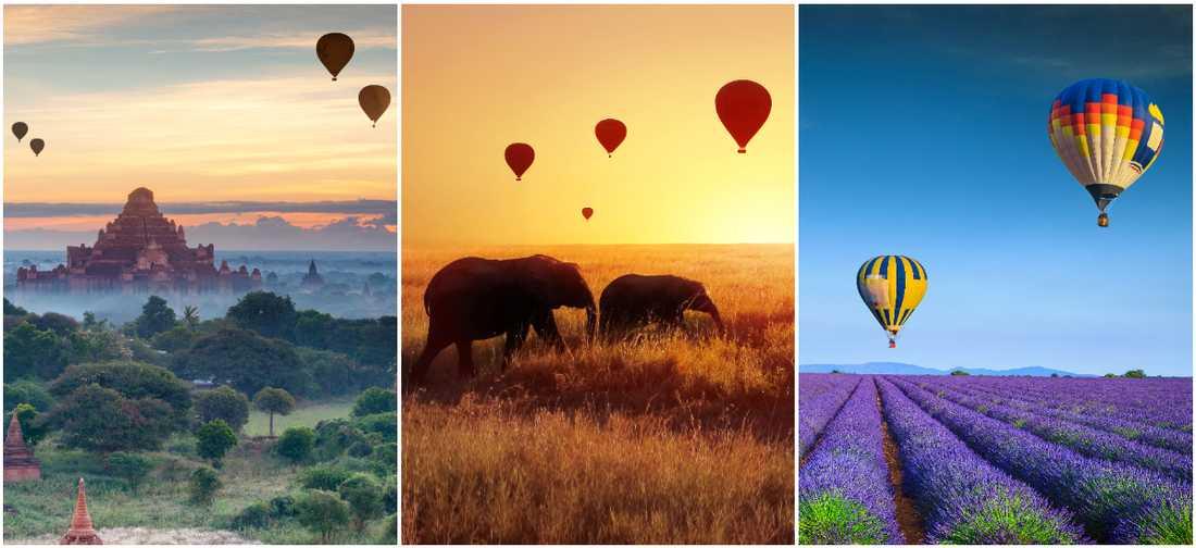 Ballongturer finns på massor av platser runt jorden.