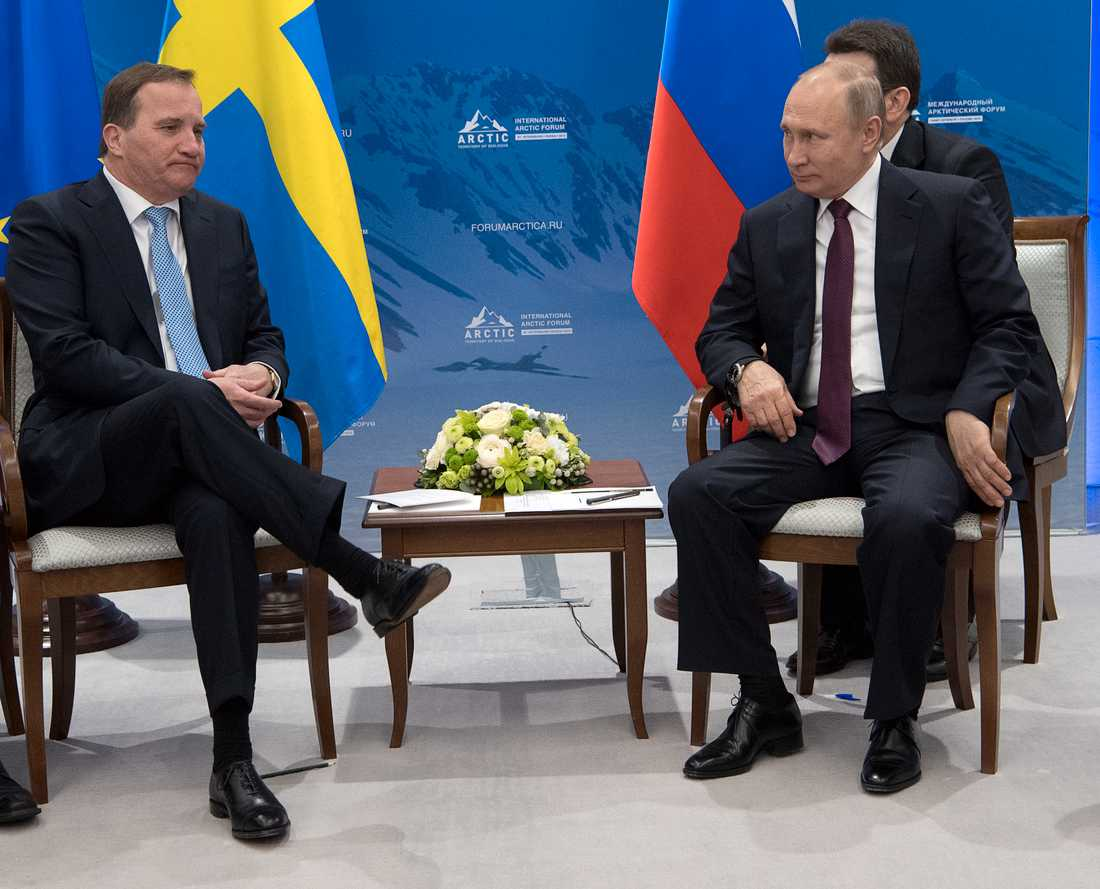 Det här var Löfvens och Putins första möte.