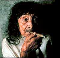 Den gamle mannen är lacando-indian och tillhör Mexikos ursprungsbefolkning.