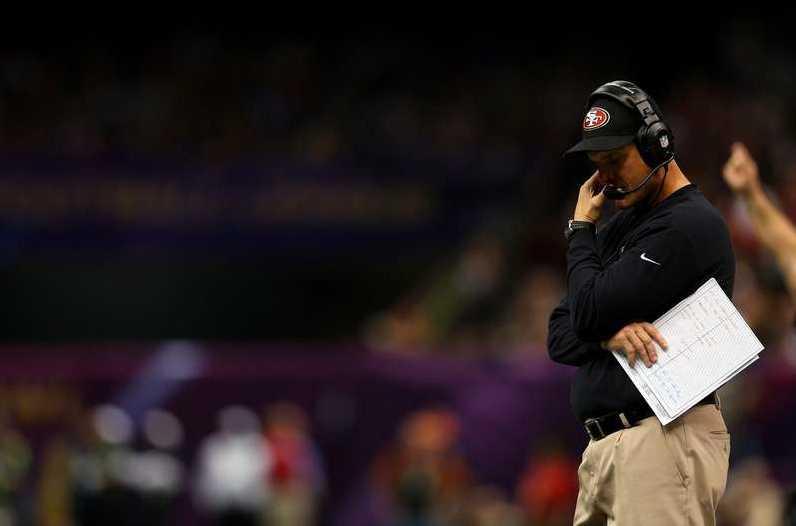 49ers coach Jim, efter förlusten. Foto: Reuters, AP, AFP, Getty