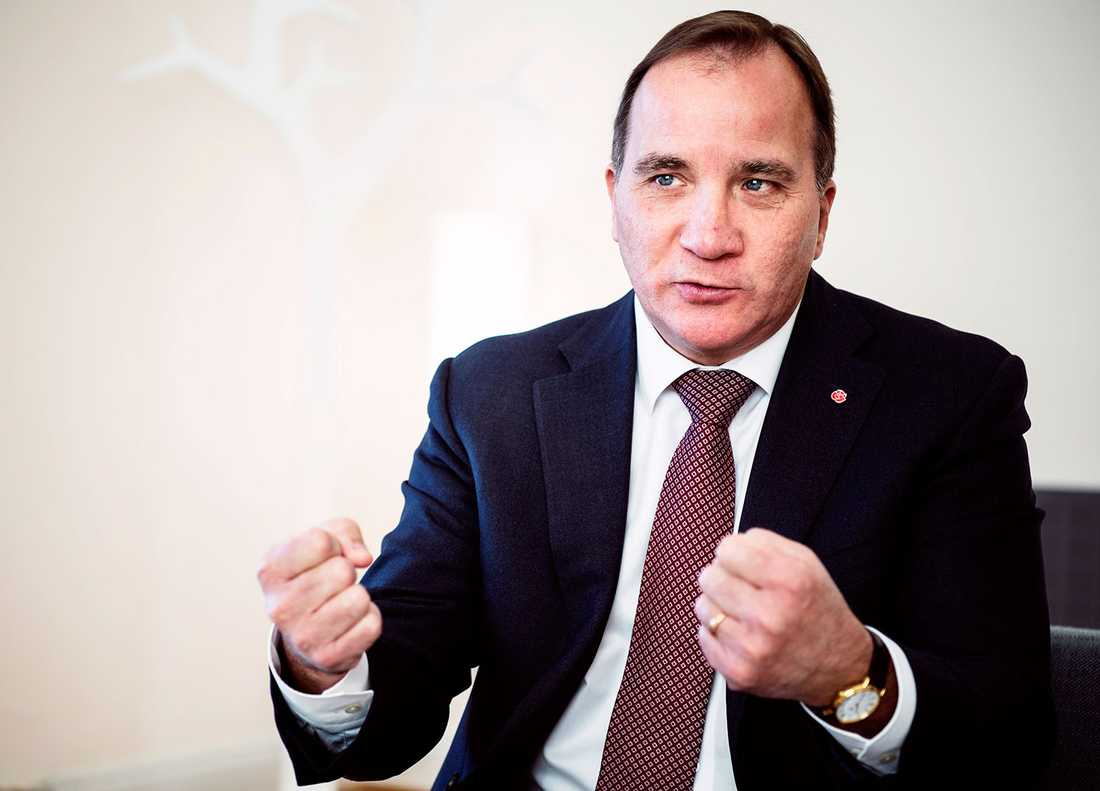 Statsminister Stefan Löfven.