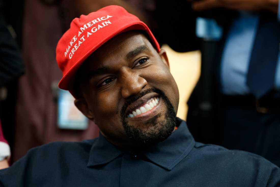Kanye West under sitt besök i Vita huset i höstas. Arkivbild.