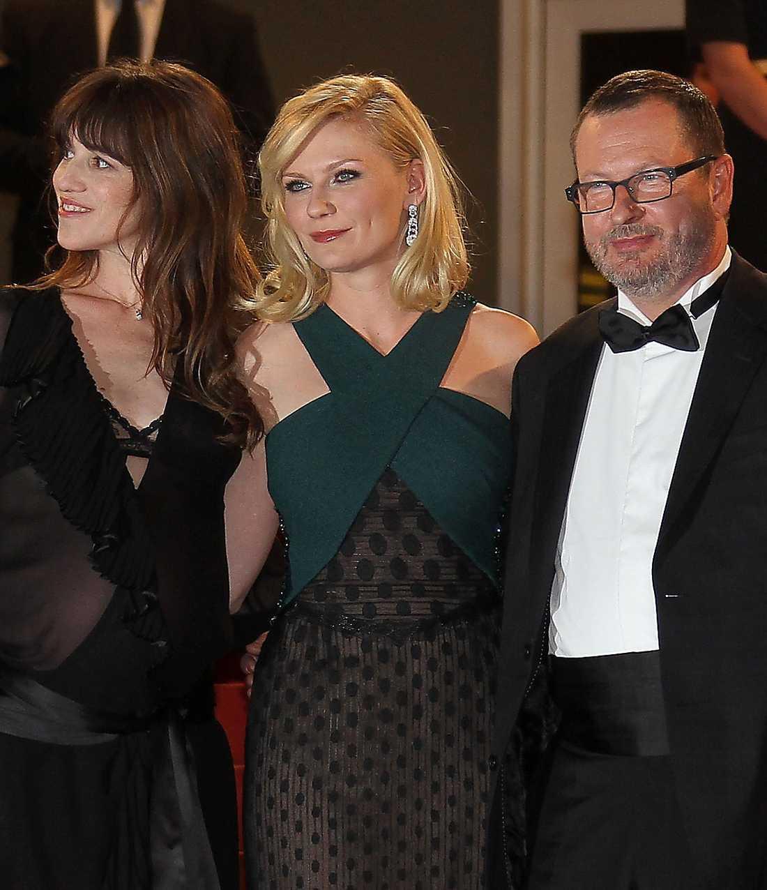 Tillsammans med Kirsten Dunst på röda mattan.