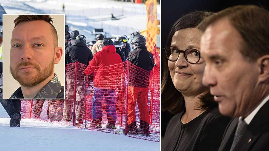 Hur kan man som regering titta på samtidigt som skolor runt om i Sverige stängs för att rika medelsvenssons vill semestra i de svenska fjällen? Till följd av ert ledarskap så har de svagaste eleverna vare sig tillgång till skidsemester eller skola, skriver rektorn Fredrik Håkansson.