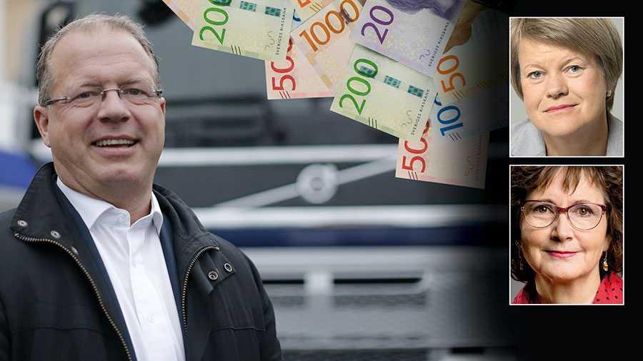 Volvos vd Martin Lundstedt fick mer än 20 miljoner kronor i bonus förra året, det är alltså utöver lönen. Mer än var tionde skattekrona som betalats till Volvo har gått till bonusar. Tycker Socialdemokraterna att det är rätt? skriver Ulla Andersson och Ilona Szatmari-Waldau.