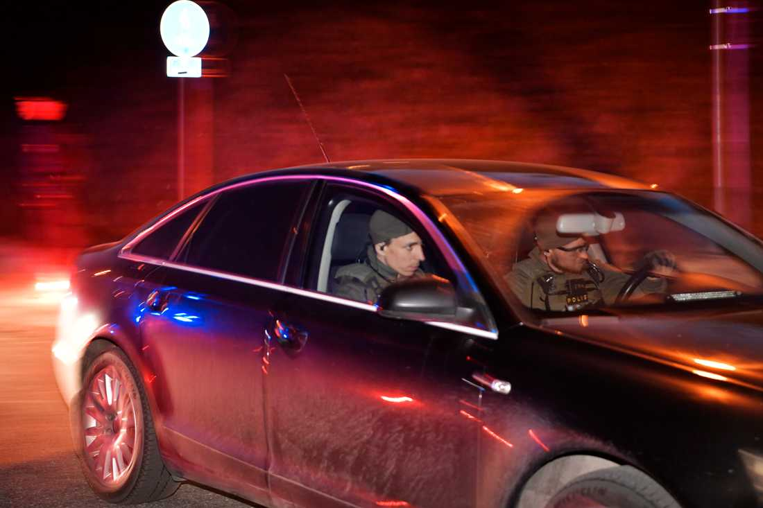En misstänkt greps i Märsta på fredagskvällen.