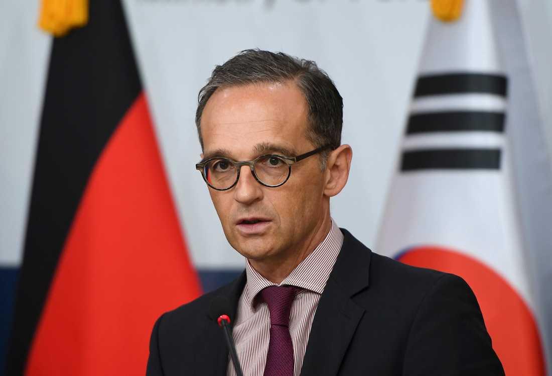 Heiko Maas är Tysklands utrikesminister. Arkivbild.