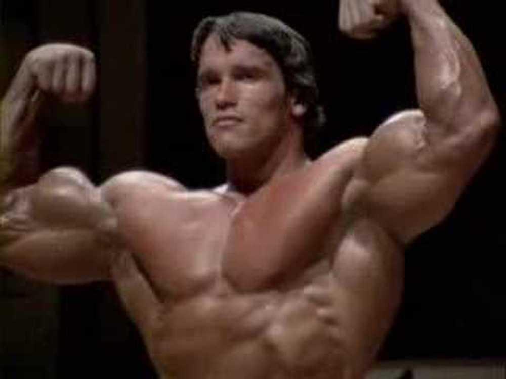 Arnold Schwarzenegger som Mr Olympia 1980.
