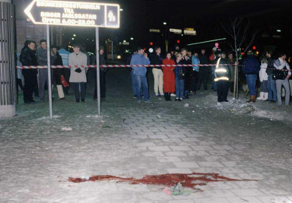 Platsen där Olof Palme blev mördad.
