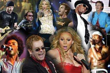 STJÄRNKLART U2, Madonna, Robbie Williams, P Diddy, Paul McCartney, Lauryn Hill, Elton John, Mariah Carey och 50 cent är bara några av alla superstjärnor som uppträder på Live 8. (Bilden är ett montage)