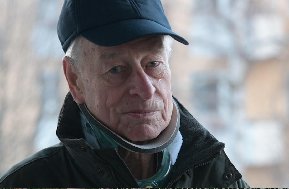 Åke Wennerström, 87, räddades i sista stund.