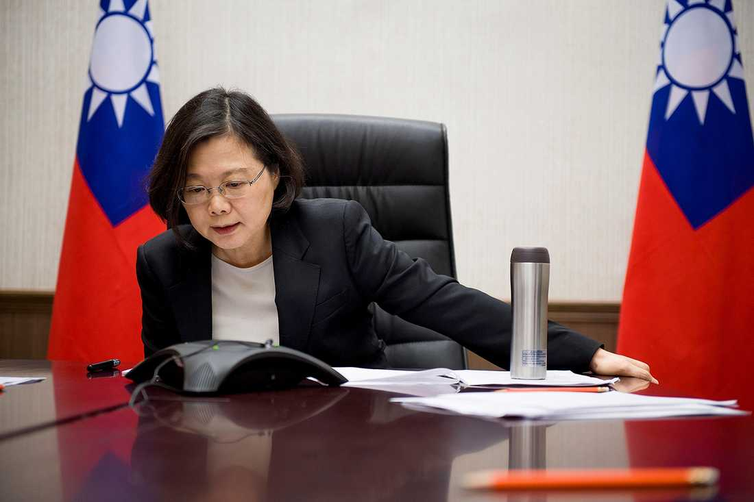 Tsai Ing-wen i samtal med Donald Trump.