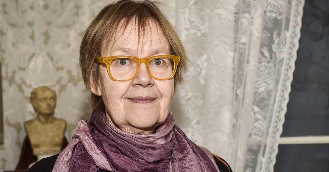 Poeten Tua Forsström, nyinvald ledamot i Svenska Akademien.