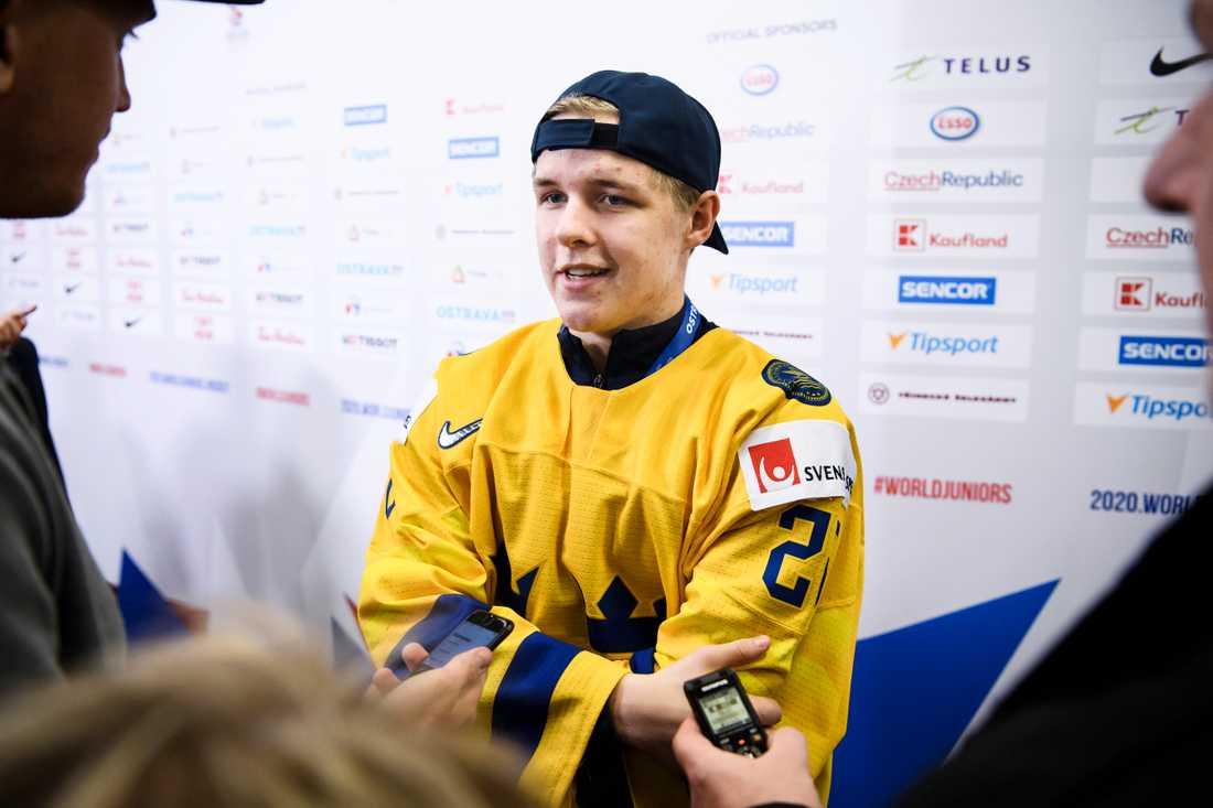 Jonatan Berggren möter gärna Tjeckien i JVM-kvartsfinal.