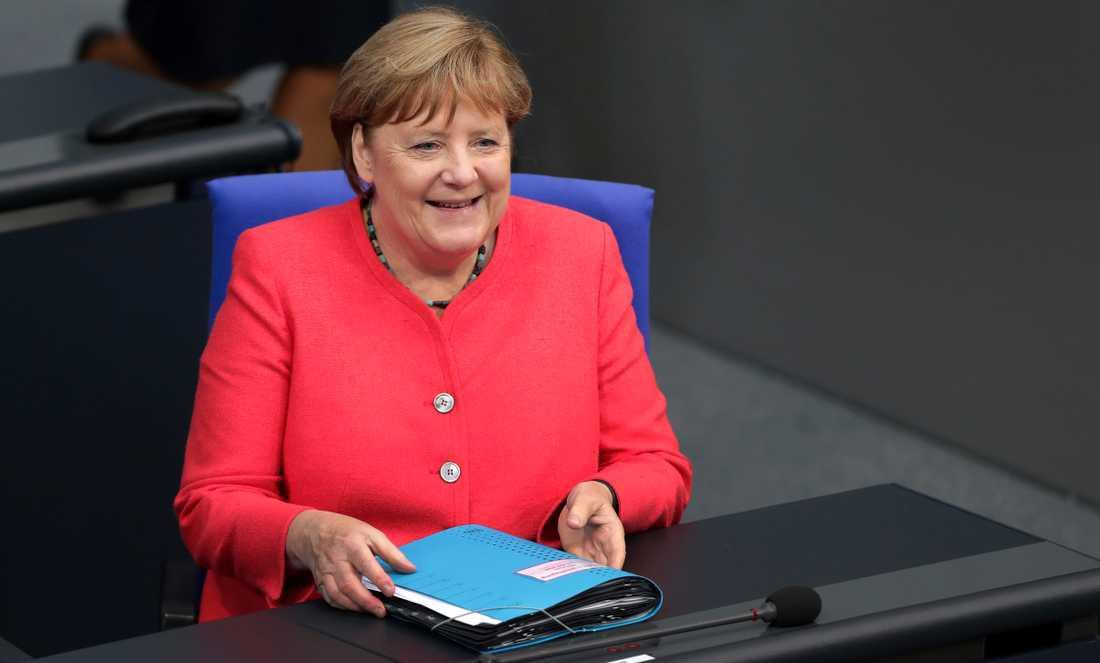 Tysklands förbundskansler Angela Merkel kommer till Bryssel för att diskutera coronastöd och nästa långtidsbudget i EU. Arkivfoto.