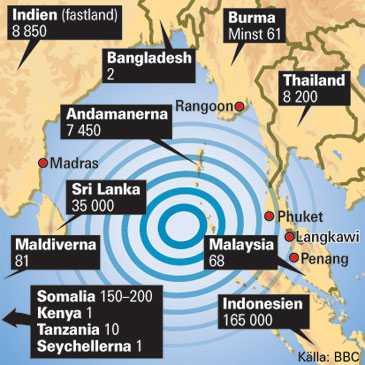 Karta Afrikas Ostkust.225 000 Manniskor Omkom I Tsunamin Aftonbladet