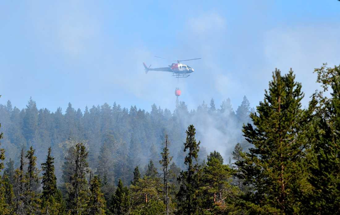 Skogsbrand i Älvdalen.