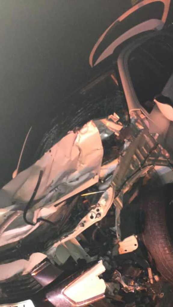 Det blev inte mycket av bilen kvar efter olyckan