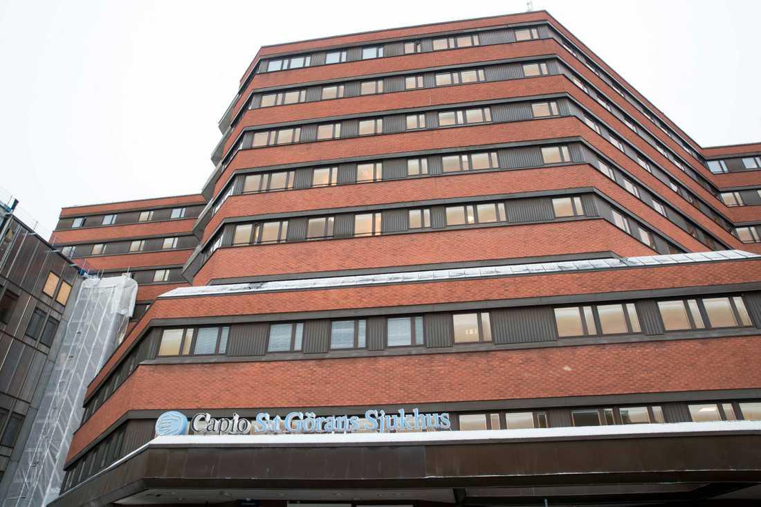 Kvinnan sökte vård på S:t Görans sjukhus i Stockholm. Arkivbild.