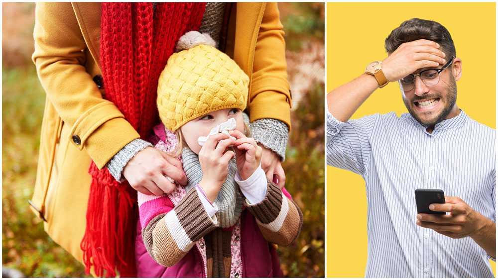 Många föräldrar oroar sig över påsken och hur man ska hantera sjuka familjemedlemmar när alla ska träffas och fira påsk.